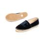 Authentic Second Hand Chanel Velvet 'CC' Cap Toe Espadrilles (PSS-143-00125) - Thumbnail 4