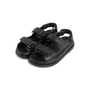 Authentic Second Hand Chanel Leather Velcro Sandals (PSS-610-00014) - Thumbnail 2