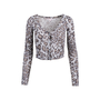 Authentic Second Hand Rebecca Taylor Leopard Print Crop Cardigan (PSS-340-00320) - Thumbnail 0