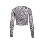 Authentic Second Hand Rebecca Taylor Leopard Print Crop Cardigan (PSS-340-00320) - Thumbnail 1
