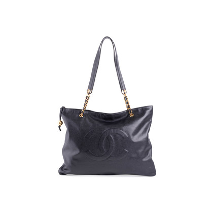 Authentic Vintage Chanel Caviar Tote Bag (PSS-704-00013)