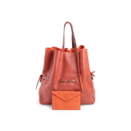 Authentic Second Hand Jil Sander Drawstring Tote Bag (PSS-075-00111)