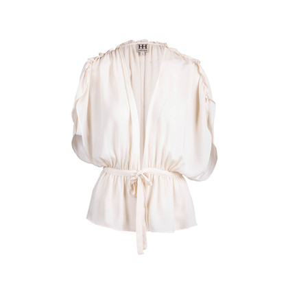 Authentic Second Hand Haute Hippie Ruffle Sleeve Top (PSS-097-00212)