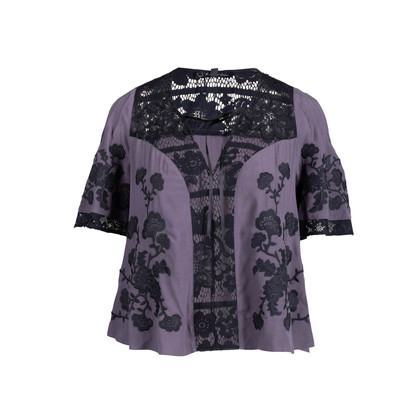 Authentic Second Hand For Love and Lemons Panelled Lace Top (PSS-097-00236)
