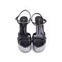 Authentic Second Hand Saint Laurent Candy Python and Ponyhair Platform Sandals (PSS-370-00113) - Thumbnail 0