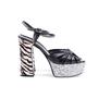 Authentic Second Hand Saint Laurent Candy Python and Ponyhair Platform Sandals (PSS-370-00113) - Thumbnail 2
