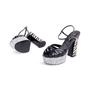 Authentic Second Hand Saint Laurent Candy Python and Ponyhair Platform Sandals (PSS-370-00113) - Thumbnail 4
