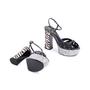 Authentic Second Hand Saint Laurent Candy Python and Ponyhair Platform Sandals (PSS-370-00113) - Thumbnail 5
