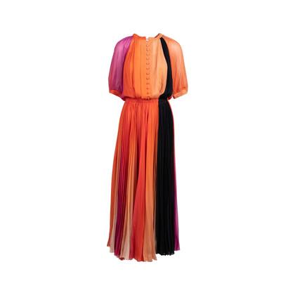 Authentic Second Hand Sonia Rykiel Multicolour Pleated Maxi Dress (PSS-200-01733)