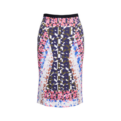 Authentic Second Hand Peter Pilotto Abstract Pencil Skirt (PSS-236-00061)