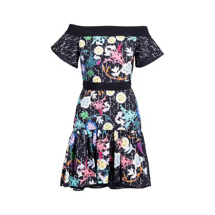 Authentic Second Hand Peter Pilotto Off Shoulder Floral Mini Dress (PSS-236-00062)