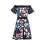 Authentic Second Hand Peter Pilotto Off Shoulder Floral Mini Dress (PSS-236-00062) - Thumbnail 0