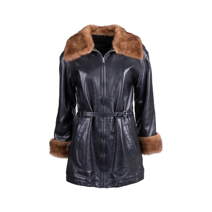 Authentic Second Hand Corsi Leather Leather Fur Coat (PSS-685-00004)