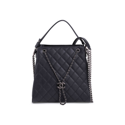Authentic Second Hand Chanel Large Accordion Bucket Bag (PSS-732-00012)
