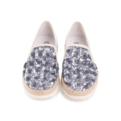 Authentic Second Hand Tod's Sequin Embellished Slip Ons (PSS-249-00028)