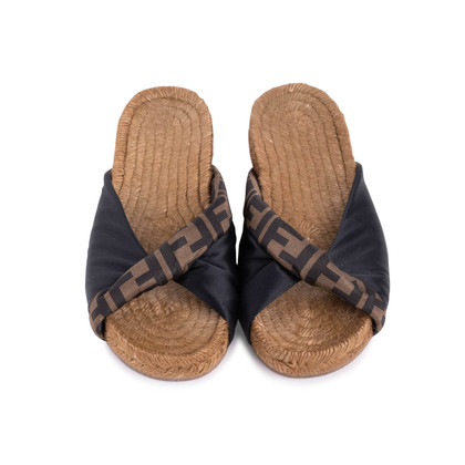 Authentic Second Hand Fendi Twist Logo Espadrilles (PSS-249-00029)