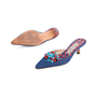 Authentic Second Hand Manolo Blahnik Denim Embellished Mules (PSS-726-00005) - Thumbnail 5
