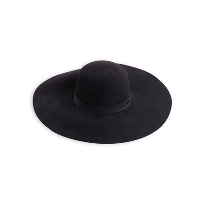 Authentic Second Hand Maison Michel Blanche Wide-Brim Hat (PSS-718-00037)