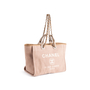 Authentic Second Hand Chanel Deauville Canvas Tote (PSS-606-00061) - Thumbnail 1