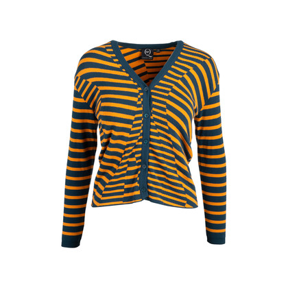 Authentic Second Hand McQ Alexander Mcqueen Striped Cardigan (PSS-721-00018)