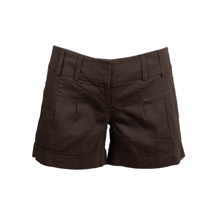 Authentic Second Hand Elie Tahari Stiched Linen Shorts (PSS-097-00243)