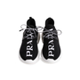 Authentic Second Hand Prada Knit Logo Lace-Up Sneakers (PSS-145-00310) - Thumbnail 0