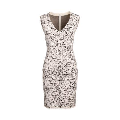 Authentic Second Hand Azzedine Alaïa Animal Print Bodycon Sleeveless Midi Dress (PSS-097-00173)