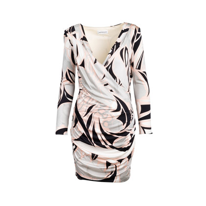 Authentic Second Hand Emilio Pucci Padded Shoulder Wrap Dress (PSS-097-00175)