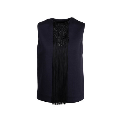 Authentic Second Hand Lanvin Fringe Tank Top (PSS-745-00009)