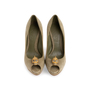 Authentic Second Hand Alexander McQueen Suede Peep Toe Skull Pumps (PSS-741-00016) - Thumbnail 0