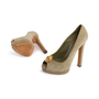 Authentic Second Hand Alexander McQueen Suede Peep Toe Skull Pumps (PSS-741-00016) - Thumbnail 5