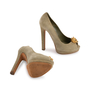 Authentic Second Hand Alexander McQueen Suede Peep Toe Skull Pumps (PSS-741-00016) - Thumbnail 6