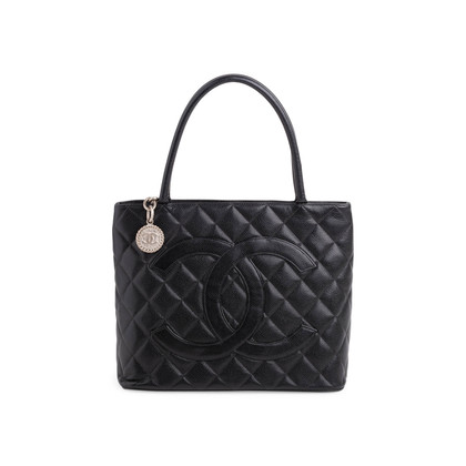 Authentic Second Hand Chanel Caviar Medallion Tote Bag (PSS-760-00003)