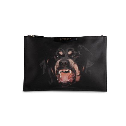 Authentic Second Hand Givenchy Rottweiler Coated Canvas Clutch (PSS-762-00017)