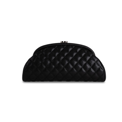 Authentic Second Hand Chanel Timeless Half Moon Clutch Bag (PSS-762-00020)