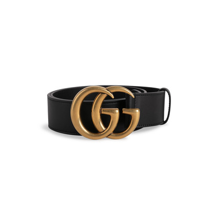 Authentic Second Hand Gucci GG Leather Belt (PSS-622-00013)