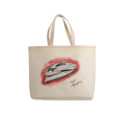 Authentic Second Hand Chanel Mobile Art Karl Lagerfeld Tote Bag (PSS-575-00069)