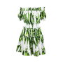 Authentic Second Hand Dolce & Gabbana Pea Print Off-Shoulder Dress (PSS-716-00024) - Thumbnail 0