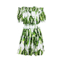 Authentic Second Hand Dolce & Gabbana Pea Print Off-Shoulder Dress (PSS-716-00024) - Thumbnail 1