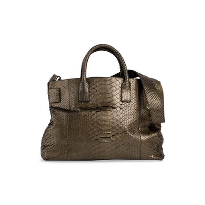 Authentic Second Hand Ling Wu Python Jet Tote (PSS-444-00040)