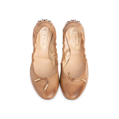 Authentic Second Hand Tod's Leather Ballerina Flats (PSS-773-00001)