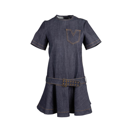 Authentic Second Hand Louis Vuitton Denim Flare Dress (PSS-200-01763)