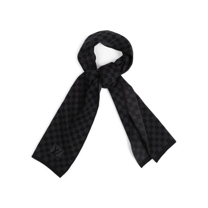 Authentic Second Hand Louis Vuitton Petit Damier Wool Scarf (PSS-743-00003)