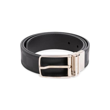 Authentic Second Hand Louis Vuitton Damier Afini Calfskin Boston 40mm Reversible Belt (PSS-200-01817)