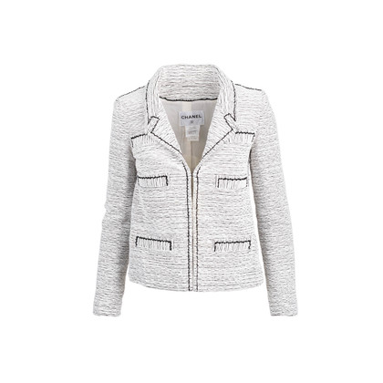 Authentic Second Hand Chanel Spring Summer 2014 Tweed Jacket (PSS-770-00020)
