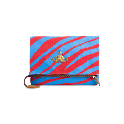 Authentic Second Hand Vivienne Westwood Anglomania Skull Beaded Folded Clutch (PSS-792-00001)