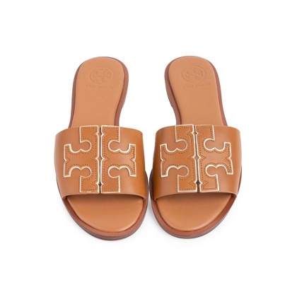 Authentic Second Hand Tory Burch Ines Leather Slides (PSS-809-00002)