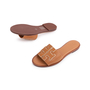 Authentic Second Hand Tory Burch Ines Leather Slides (PSS-809-00002) - Thumbnail 4