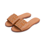 Authentic Second Hand Tory Burch Ines Leather Slides (PSS-809-00002) - Thumbnail 1