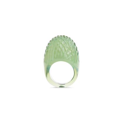 Authentic Second Hand Lalique Serpent Dome Ring (PSS-156-00083)
